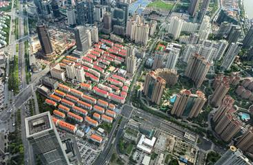 Aerial view of a big city ( Shanghai, China )