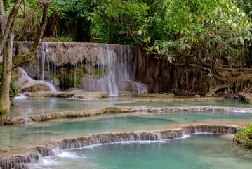 Kuang Si Waterfalls, Luang Phrabang, Laos 2019, Aug.