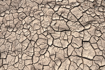 Ground cracks drought crisis environment background.