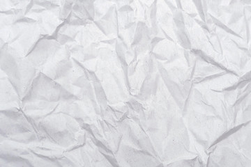 White crumpled paper texture. Abstract paper pattern for background. Close-up.