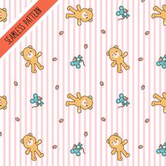 Cute kawaii seamless pattern