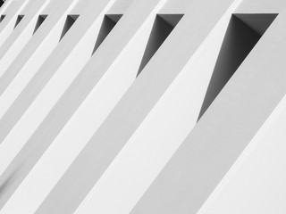 architecture of white wall with shadow