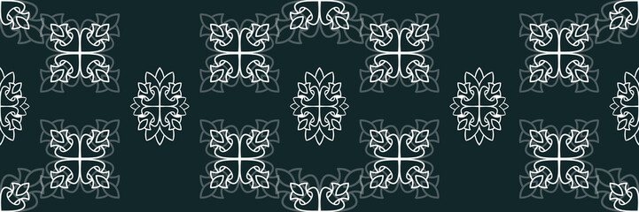 Flower damask ornate seamless pattern. Vector surface design for fabric, apparel textile, book, interior, wallpaper