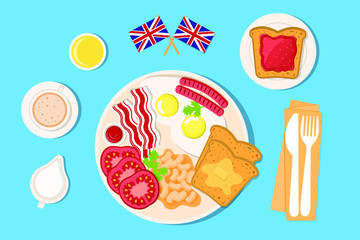 set elements english breakfast
