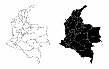 Colombia regions maps