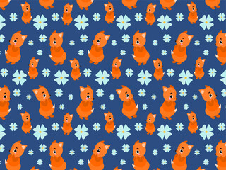 Animal design for textile printing. Wall paper