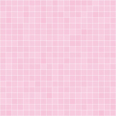 Seamless pattern of tiles in pink. Vector stylish texture.