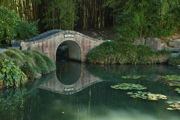 Chinese Scholar's Garden in Hamilton Gardens,Waikato region on North Island of New Zealand