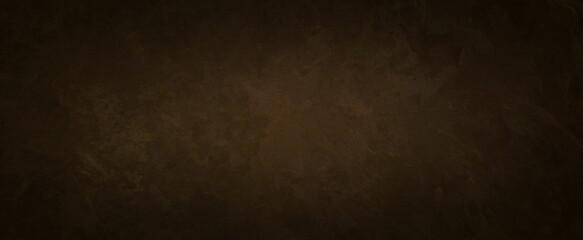 old brown background texture with black vignette in old vintage textured border design, dark elegant sepia color wall with light spotlight center