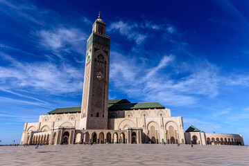 The Hassan II Mosque is a mosque in Casablanca, Morocco. It is the largest mosque in Africa, and the 3rd largest in the world.
