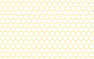Abstract  Honeycomb seamless pattern on white background.