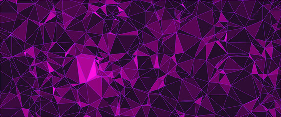 abstract geometric triangle shaped colorful vector background mixture of light and dark purple tones can be used as pattern, texture, wallpaper or banner