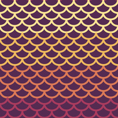 Seamless repeating pattern of halfcircles