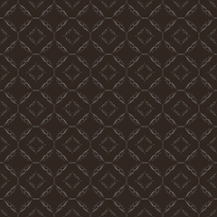 Dark brown floral vector seamless in the editable background with silver, Luxurious, Wallpaper, Luxury geometric pattern in printing, fashion design, wedding, Elegant, and invitation