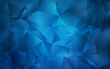 Light BLUE vector polygon abstract layout. Glitter abstract illustration with an elegant triangles. Best triangular design for your business.