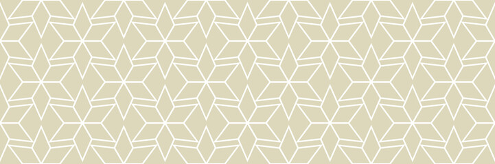 White arabic seamless pattern on olive green background