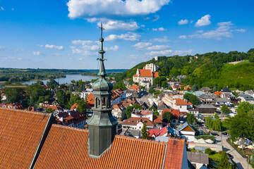 Kazimierz Dolny, Poland. Aerial view of Old Town. Kazimierz Dolny is a popular tourist destination in Poland. Bird's-eye view.