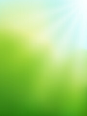 Abstract green gradient background. Nature blurred backdrop with sunlight. Vector illustration. Ecology concept for your graphic design, banner, website or poster