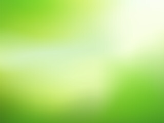 Nature gradient backdrop with bright sunlight. Abstract green blurred background. Ecology concept for your graphic design, banner or poster. Vector illustration