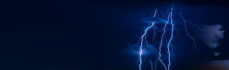 Beautiful lightning flash at night