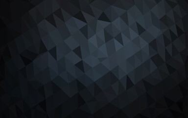 Dark Black vector blurry triangle template.