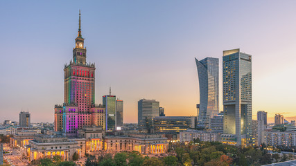 warsaw city skyline poland