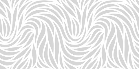 Elegant seamless floral pattern. Wavy vector abstract background. Stylish modern monochrome striped texture.