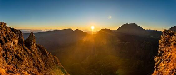 Sunrise over the mountains, Maido Reunion Island