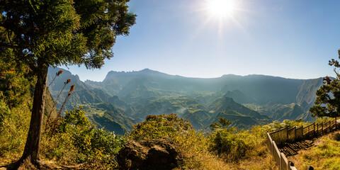Landscape in the moutains, Cilaos Reunion Island