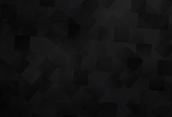 Dark Gray vector background with rectangles.