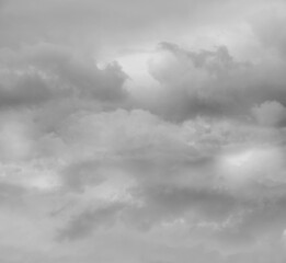 Grey clouds sky