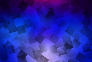 Dark Pink, Blue vector background in polygonal style.