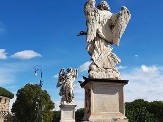 Fragment mostu Ponte Sant'Angelo, Rzym, Italia.