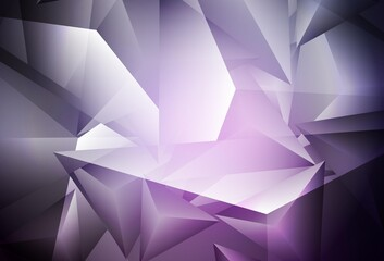 Dark Purple, Pink vector background with polygonal style.
