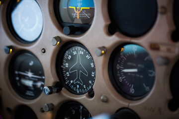 plane meters of a bushplane in alaska taken in an old school plane that is quite modern