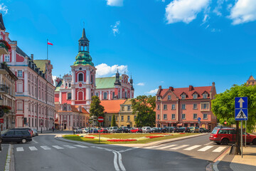 city street in Poznan