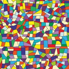 Vector seamless mosaic pattern. red blue yellow green. wallpaper background