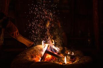 Ognisko, ogień