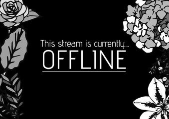 Digitally generated image of this stream is currently offline text and floral designs