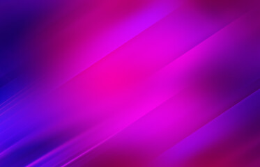 Empty dark abstract background with ultraviolet geometric lines. Neon glow.