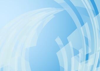 カーブする図形の青い抽象背景