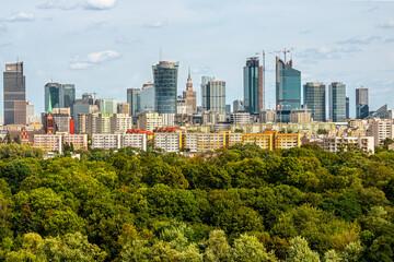 Warszawa Wola Park wieżowce centrum Warsaw Spire Varso Tower