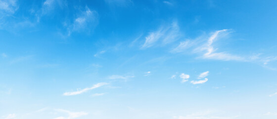 panorama blue sky background with white cloud