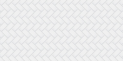 White ceramic tiles texture abstract background vector illustration