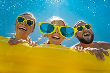 Spring break! Happy family having fun on summer vacation