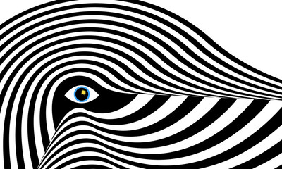 abstraction in the style of op art illusion of irregularities and waves