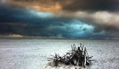 Zimowe Groźne Niebo