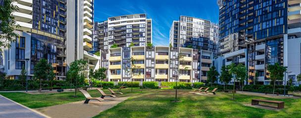Apartment building in inner Sydney suburb NSW Australia