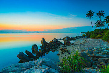 sunrise on the beach Bintan Island