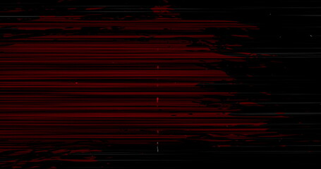 Image of multiple black and red squiggles and lines moving on seamless loop